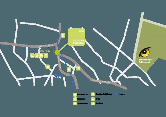 Lageplan Projekt Lainzer Straße